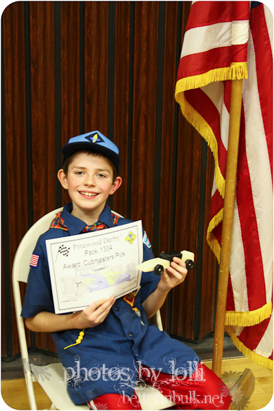 First place pinewood derby