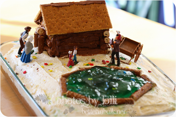 The log house and the jello lake