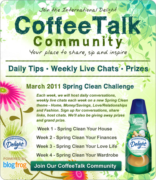 coffee talk community spring clean event