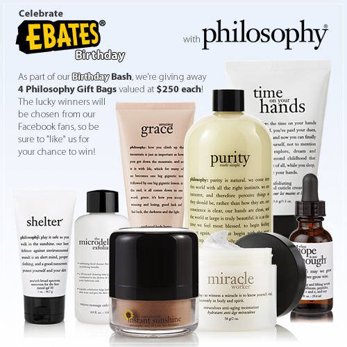 Philosophy gift bag from ebates