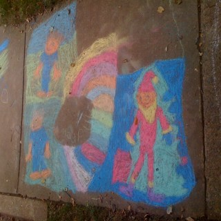 My Sidewalk Picasso – Wordless Wednesday