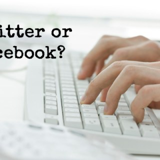 twitter or facebook