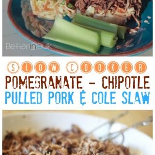 Crock Pot Pomegranate Chipotle Pulled Pork and Cole Slaw Recipe