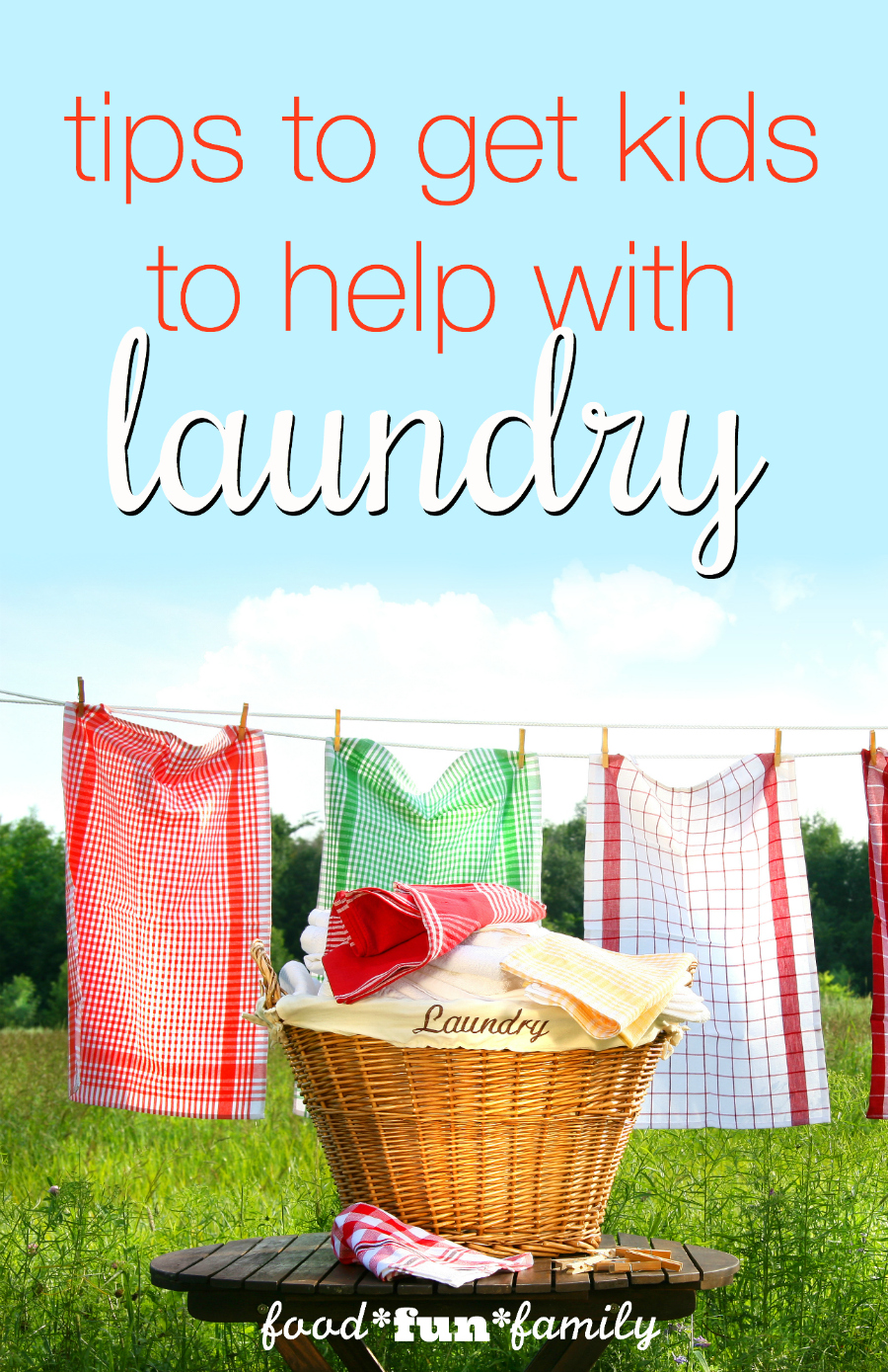 Tips to get kids to help with laundry
