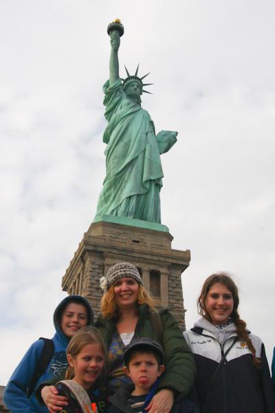 Statue of Liberty family shot