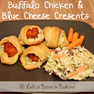 buffalo chicken blue cheese cresents