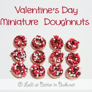mini donuts for Valentine's Day