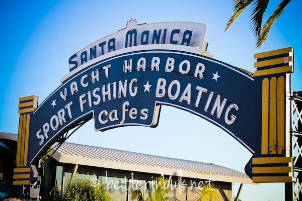 Santa Monica boardwalk pier
