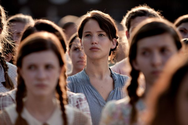 Katniss at the reaping