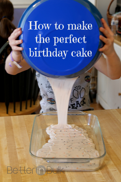 how to make the perfect birthday cake