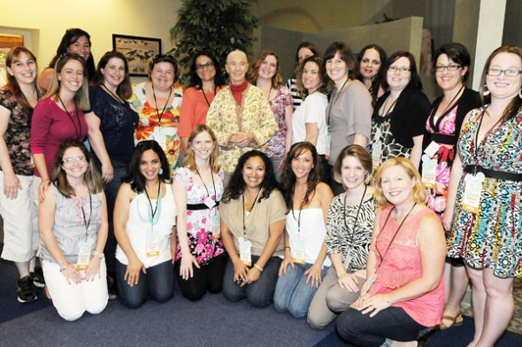 Jane Goodall with the #DisneyGlobalEvent Bloggers