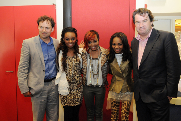 Chimpanzee Directors Alastair Fothergill & Mark Linfield with the McClain Sisters