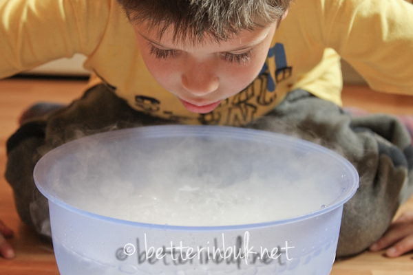 potion making dry ice