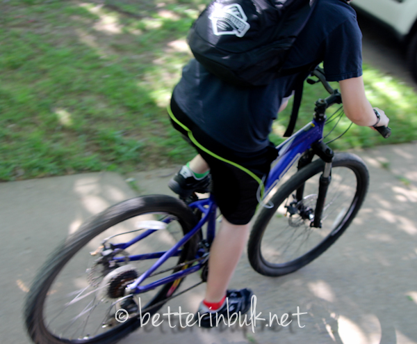 Necco on her bike