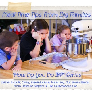 """Tips for Making Dinner Time a Success – """"How Do You Do It?"""" Series"""