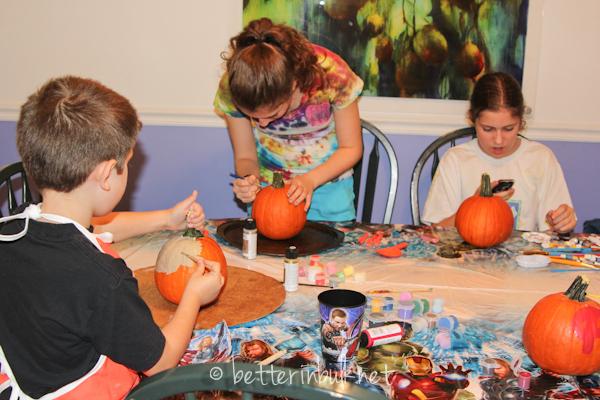 Avengers-pumpkins painting activity