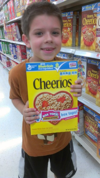 Earn extra Box Tops with General Mills products at Walmart