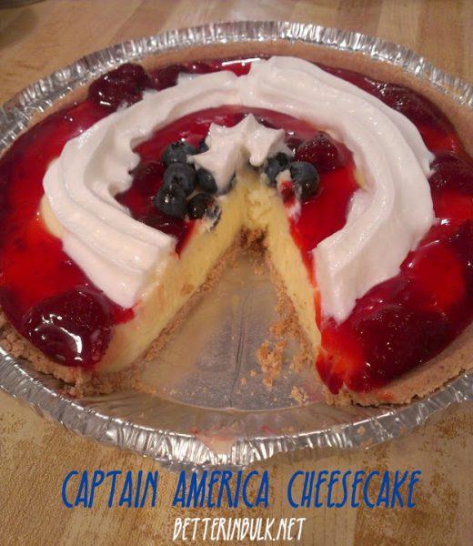 captain america Avengers cheesecake