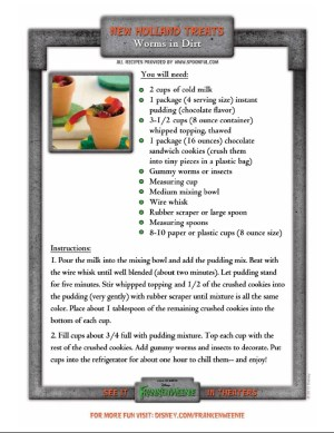 worms-in-dirt Halloween recipe