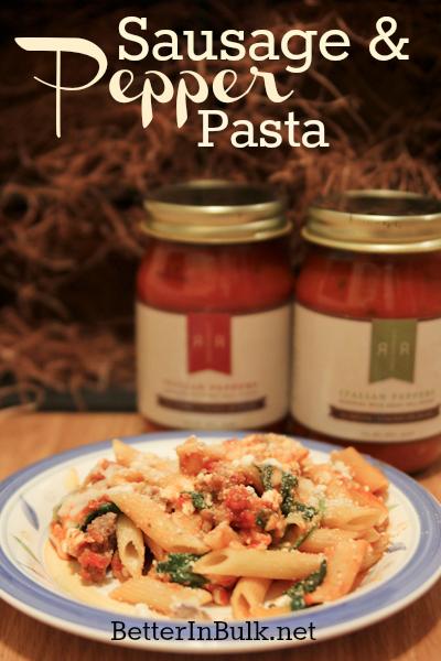 Rose Romanos sausage pepper pasta