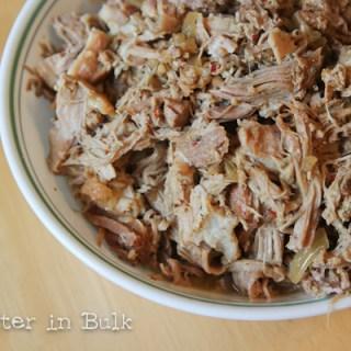 Cuban Shredded pork crock pot slow cooker recipe