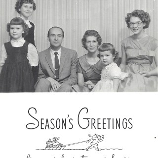 Family Christmas card 1959
