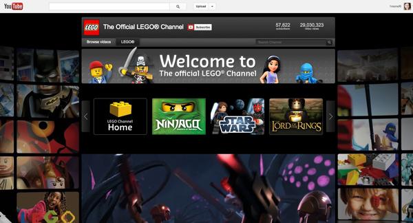 LEGO® YouTube home