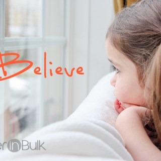 believe - little girl looking out window