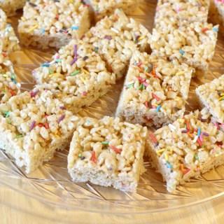 Birthday Cake Rice Krispie Treats