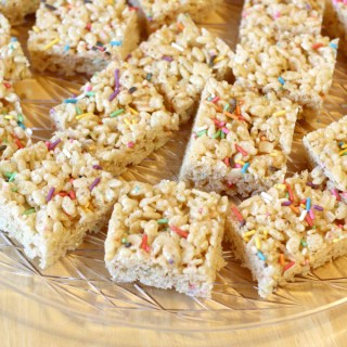 Birthday Cake Rice Krispie Treats