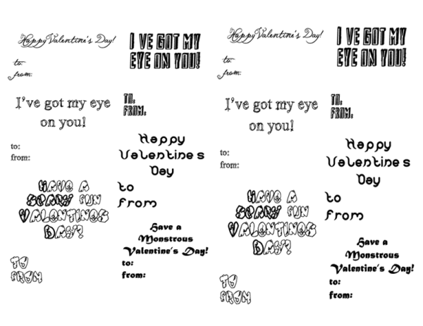 Monster Valentine's Day sayings and messages