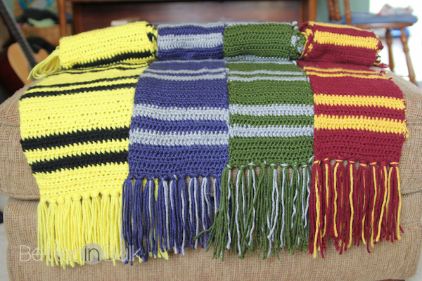harry potter hogwarts house scarves