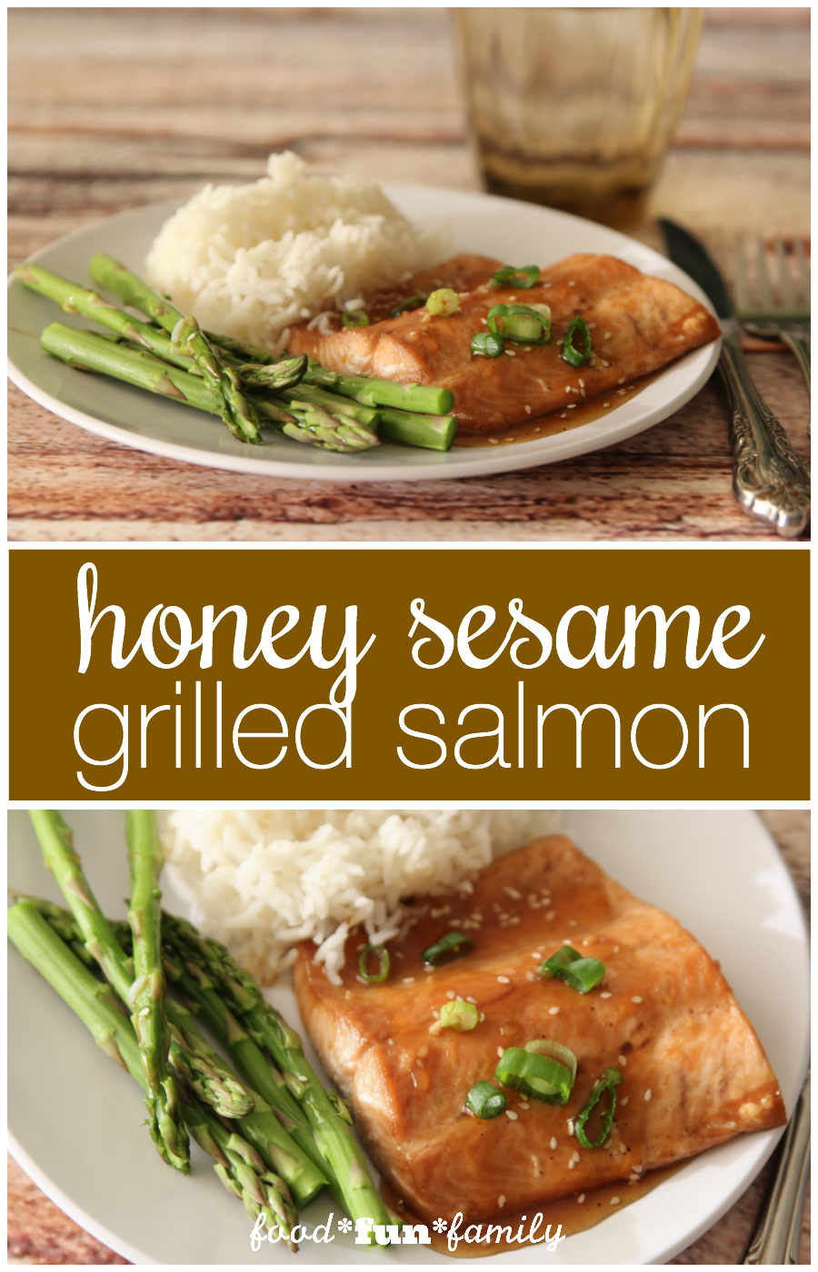Grilled honey sesame salmon - a quick, delicious dinner recipe that the whole family will love!