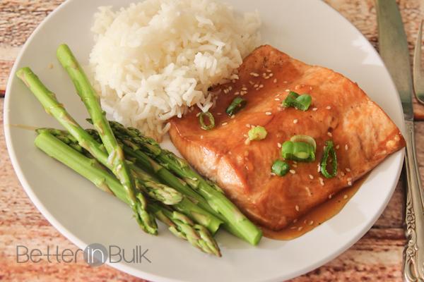 grilled honey sesame salmon