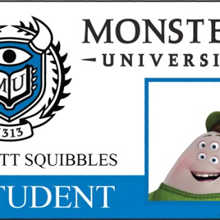 Monsters University Student ID Squishy