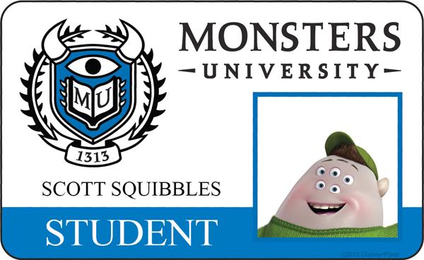 Monsters University Student ID Squishy