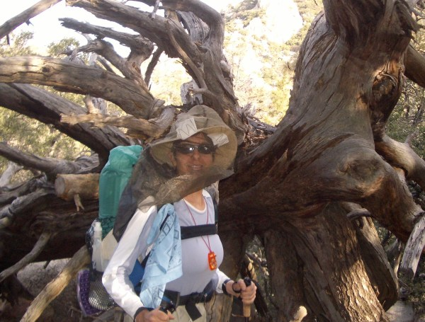 Gail Storey in her -bug hat-