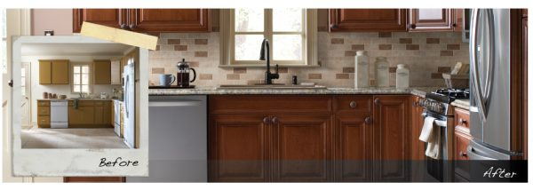 A kitchen makeover doesn't have to be a huge ordeal. Look at the difference a few changes made in this kitchen!