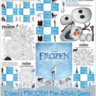 Disneys frozen activity sheets