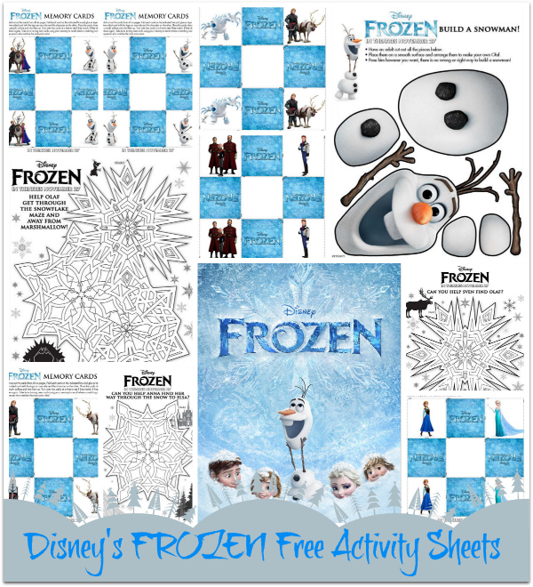 Disney's FROZEN - Free Printable Activity Sheets