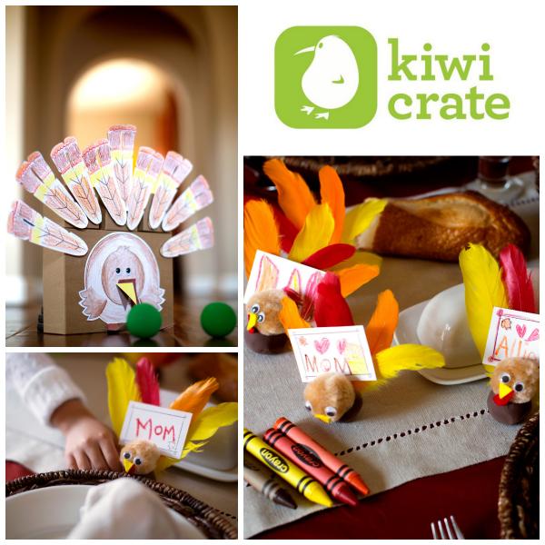Kiwi Crate Thanksgiving turkey collage