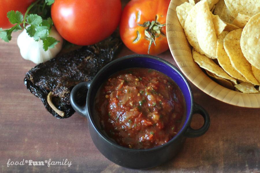 Easy roasted tomato salsa - roasted garden fresh vegetables...and very little work make the BEST salsa ever!
