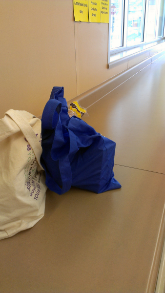 My kids LOVE being able to help me bag the groceries. It becomes a family project.