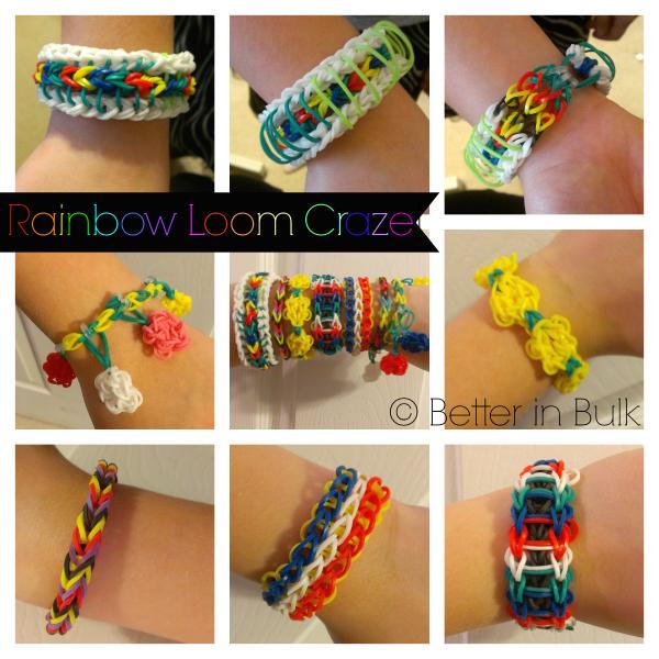 rainbow loom collage
