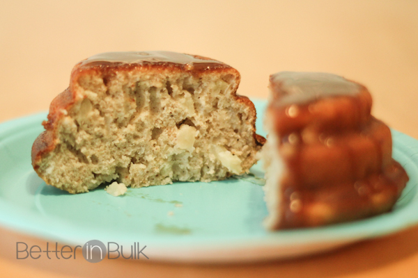 glazed apple spice cakelettes
