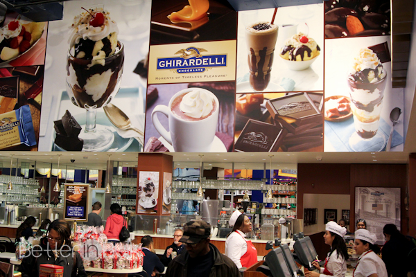 ghirardelli soda shop Hollywood California frozen s'mores sundae