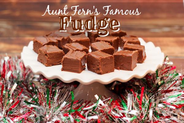 aunt ferns famous fudge recipe