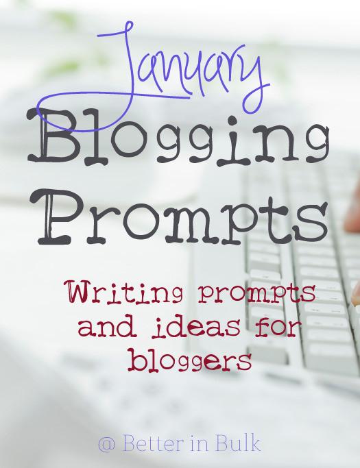 January blogging prompts
