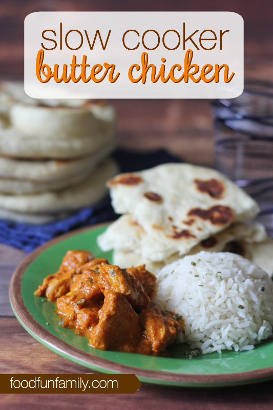 This slow cooker butter chicken recipe is a HIT in our house. Everyone loves this Indian dish cooked in the crockpot. Tasty and not too spicy. Perfection!