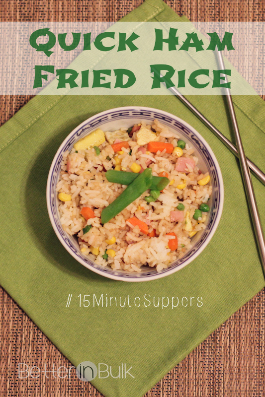 quick ham fried rice 15minutesuppers